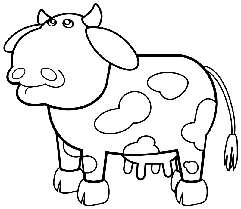 Free Cow Outline