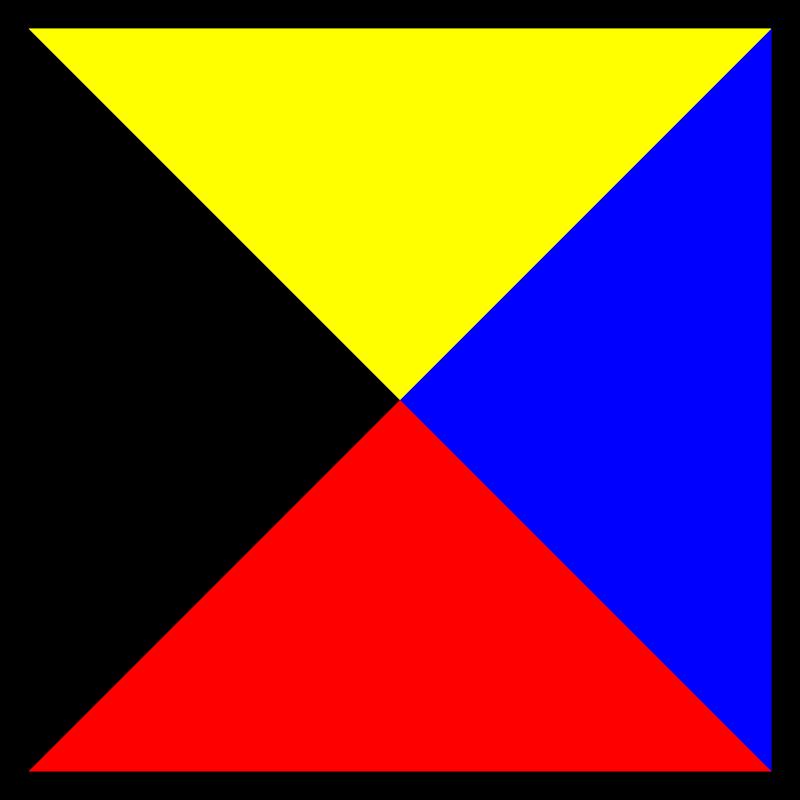Free signal flag zulu