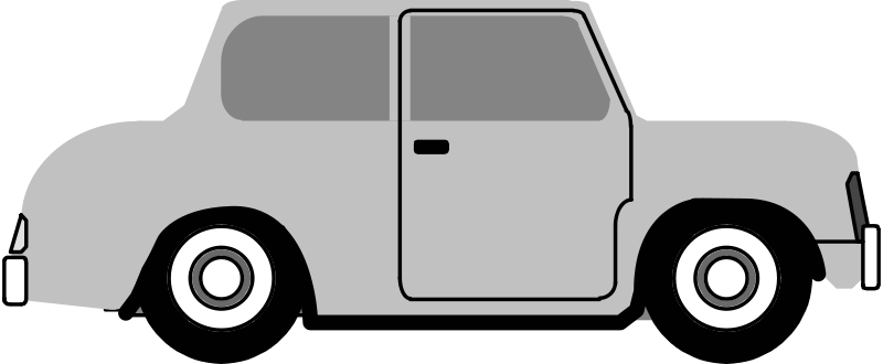 Car side view. Free clipart anonymous