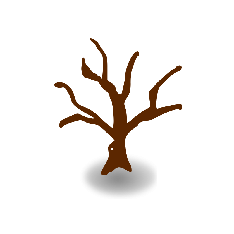 Free RPG map symbols: deserted tree