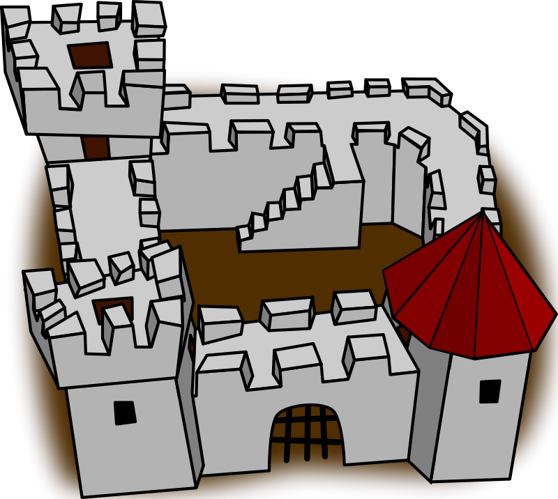 Free Ugly non-perspective cartoony fort fortress, stronghold or castle