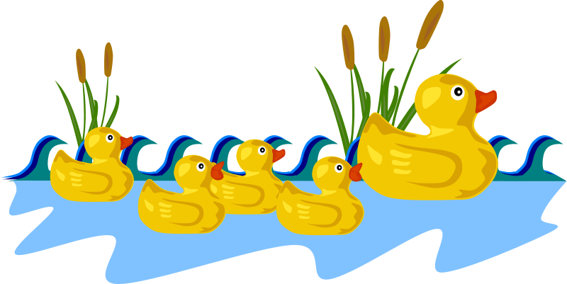 free clipart rubber duck family gerald g rh 1001freedownloads com  free clipart rubber duck outline