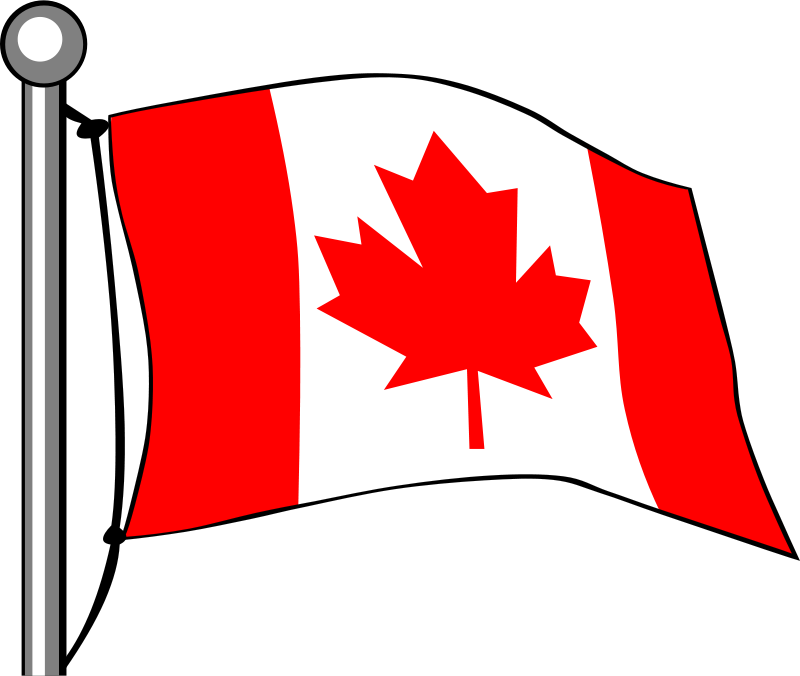 Free Canada Flag - Flying