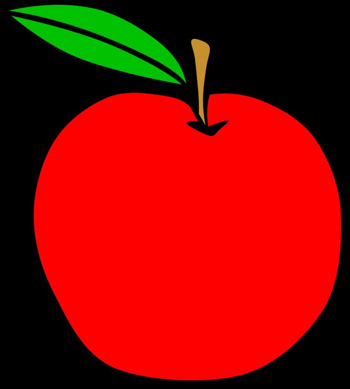 Free Clipart Simple Fruit Apple Gerald G