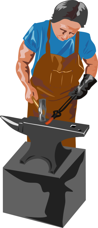 free clipart blacksmith and tools gerald g rh 1001freedownloads com blacksmith tools clipart blacksmith clip art