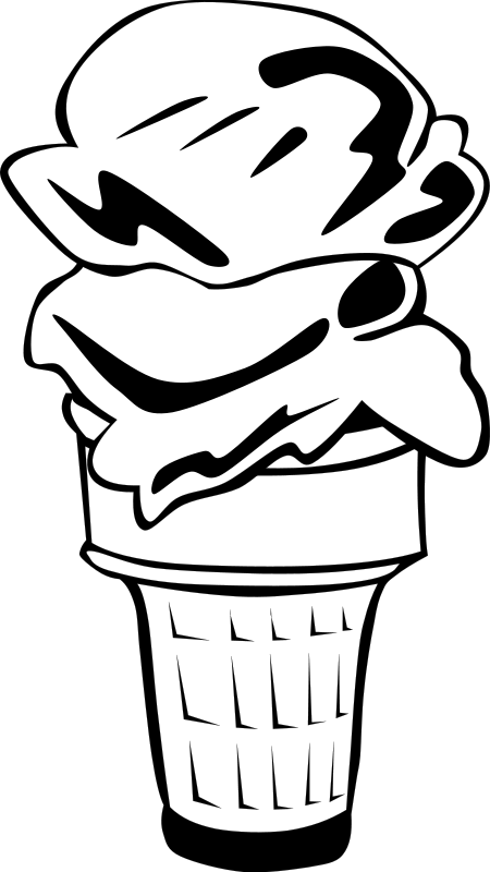 Free Clipart: Fast Food, Desserts, Ice Cream Cone, Double | Gerald_G