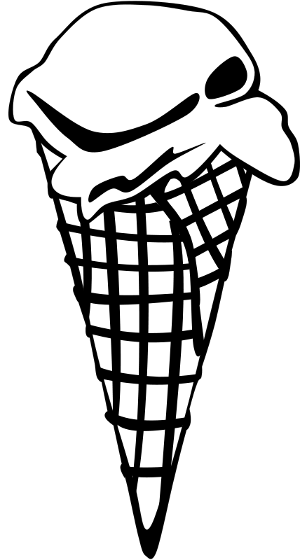 Free Clipart: Fast Food, Desserts, Ice Cream Cones, Waffle, Single | Gerald_G