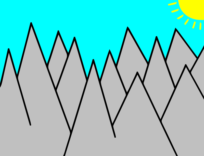 Free Clipart: Mountains | guci22