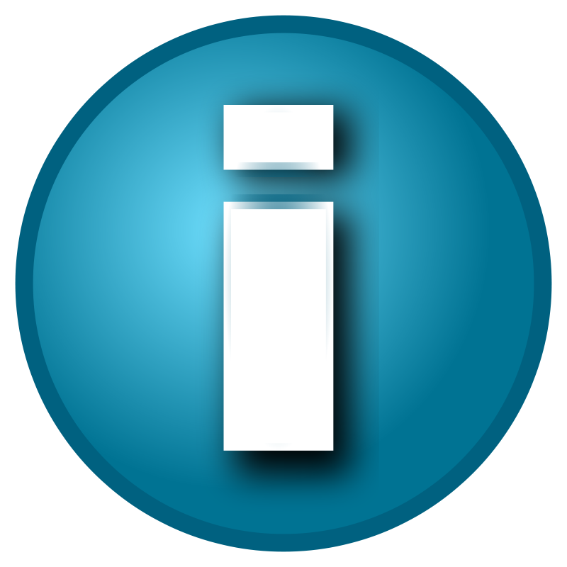 Free Small blue 'i' info button