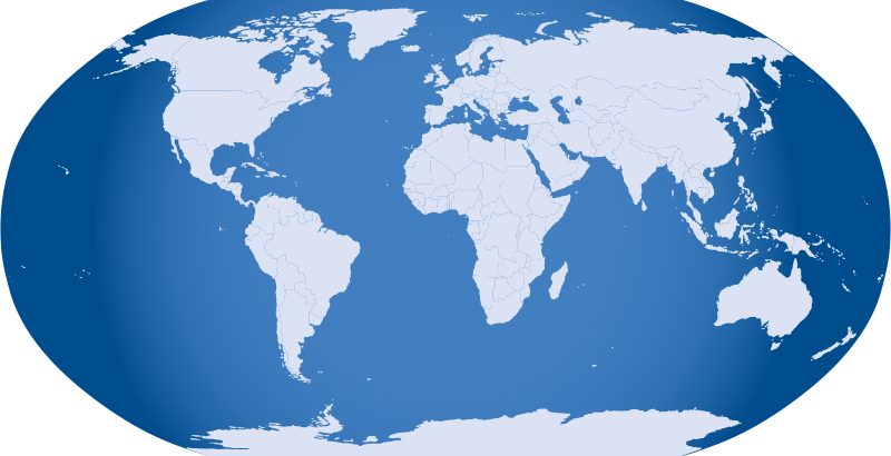 Free Blue World Map