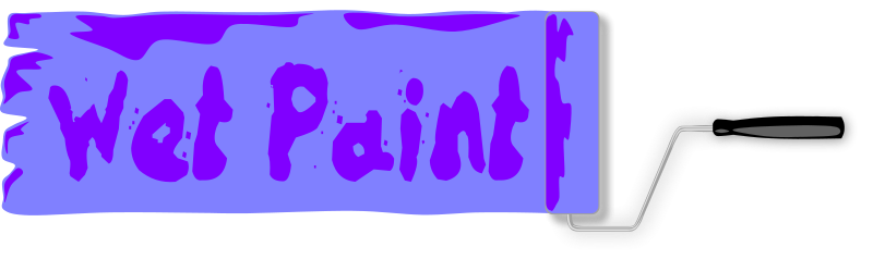Free Wet Paint Sign