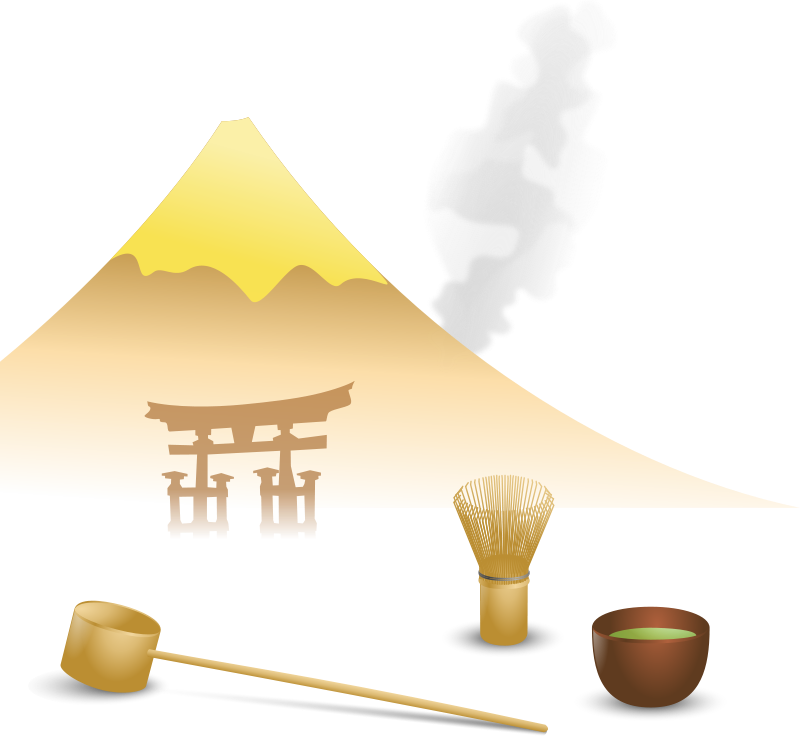 Free Japanese tea scene