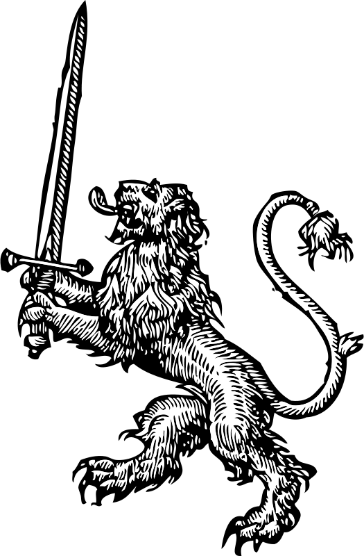 Free lion with sword