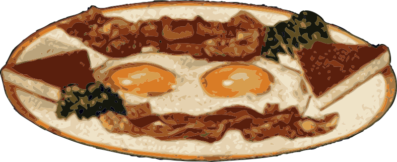 Free Clipart: Bacon and eggs | johnny_automatic
