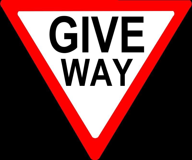 Free give way sign