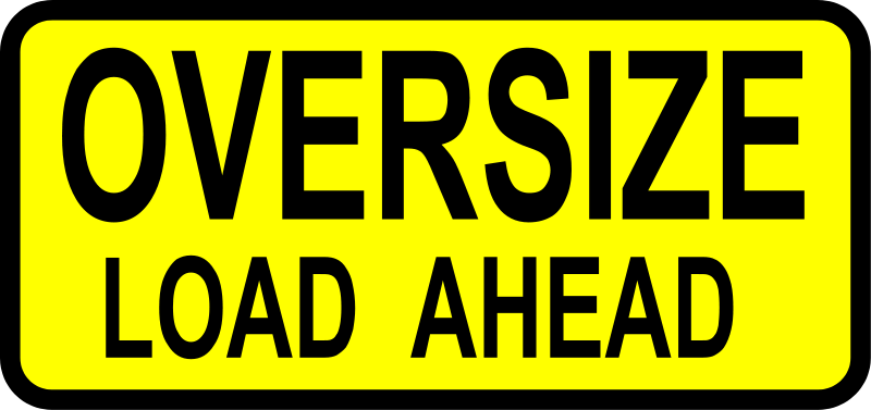Free caution_oversized load ahead
