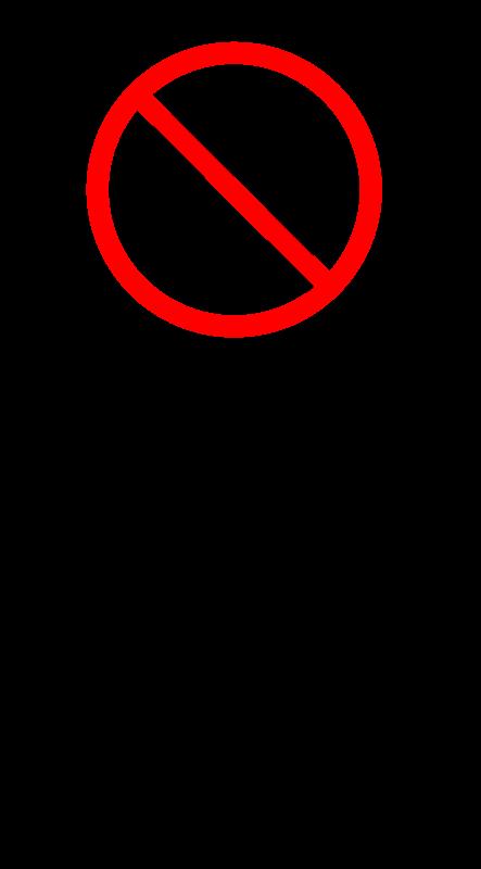 Free sign_no left turn