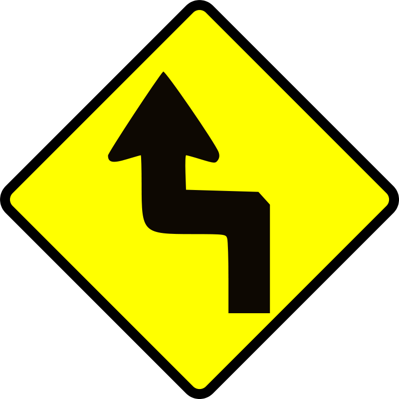 Free caution_zig zag