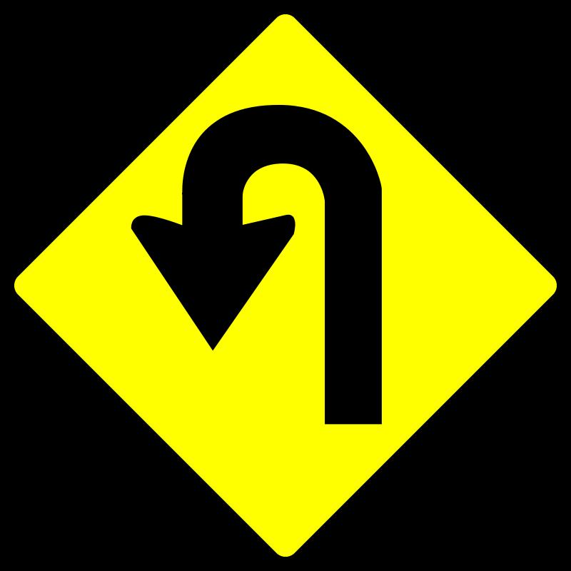 Free caution_u turn