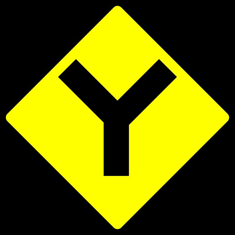 Free caution_Y road