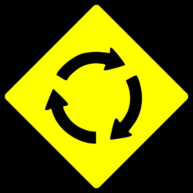 Free caution_roundabout