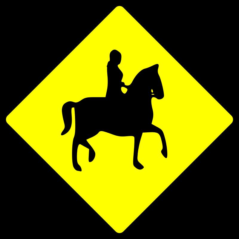 Free caution_horse rider