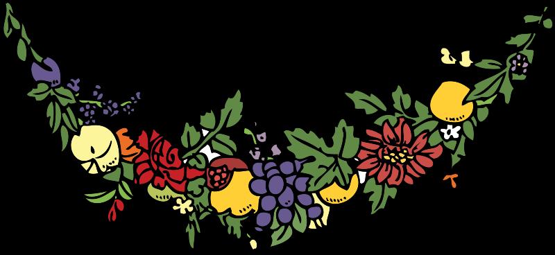 Free flower and fruit festoon