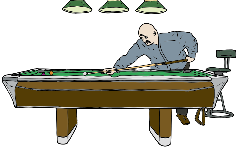Free Pool Table with Player