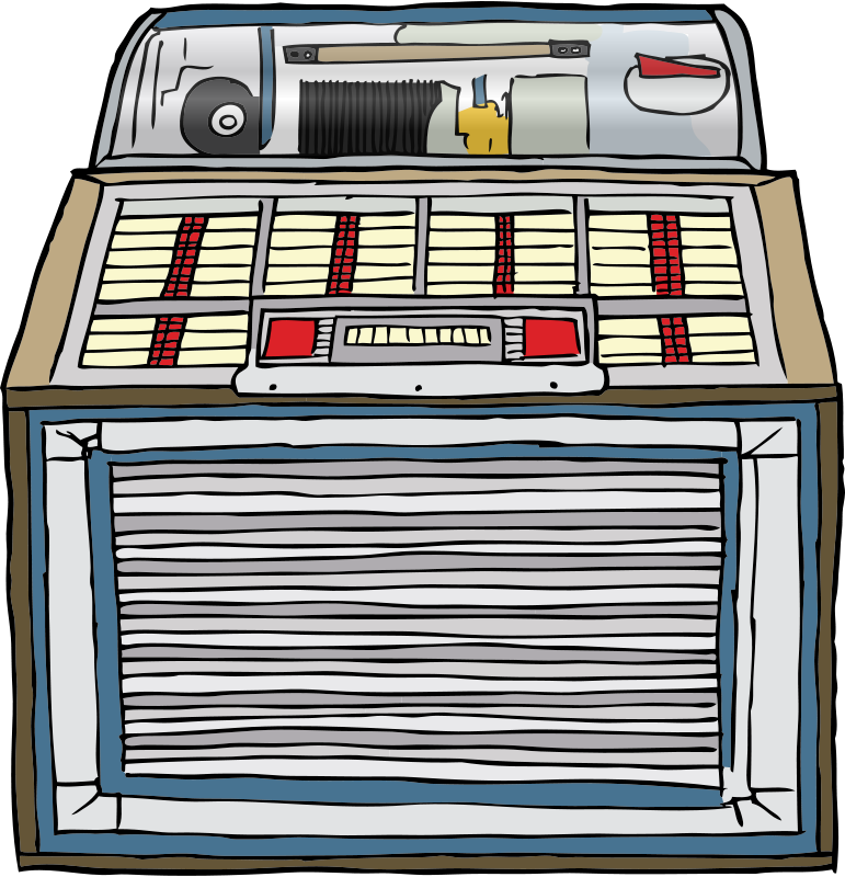 Line Art Jukebox : Search results for quot music clipart page
