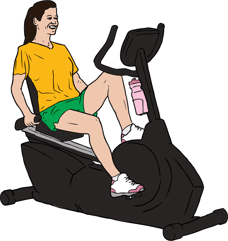 Free Woman on Exercise Bike