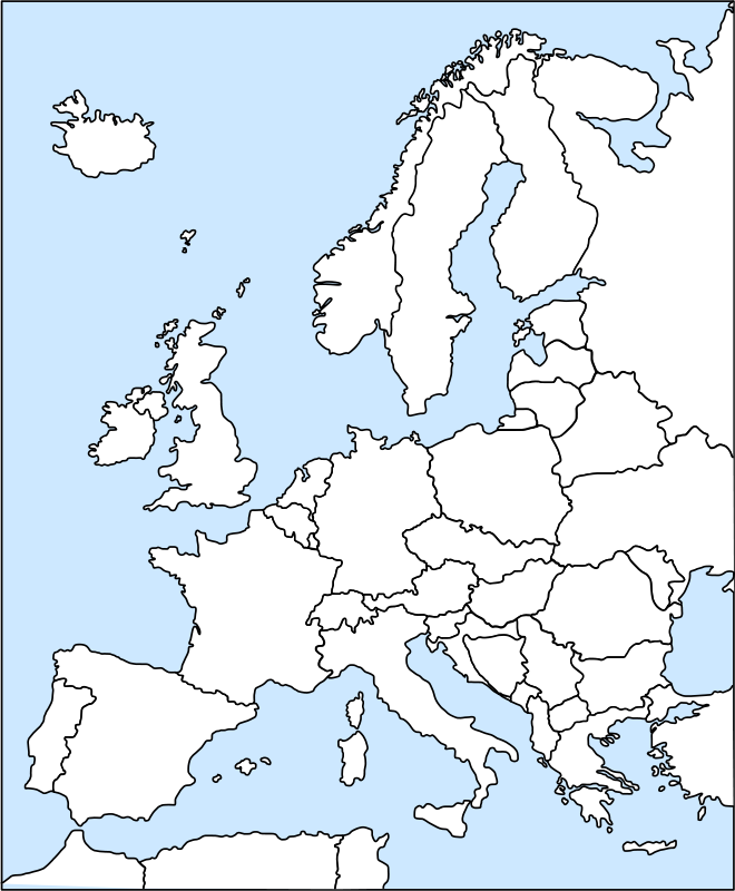 Free europe outline