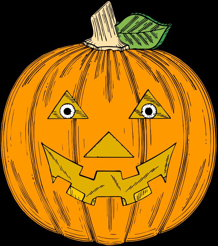Free pumpkin face