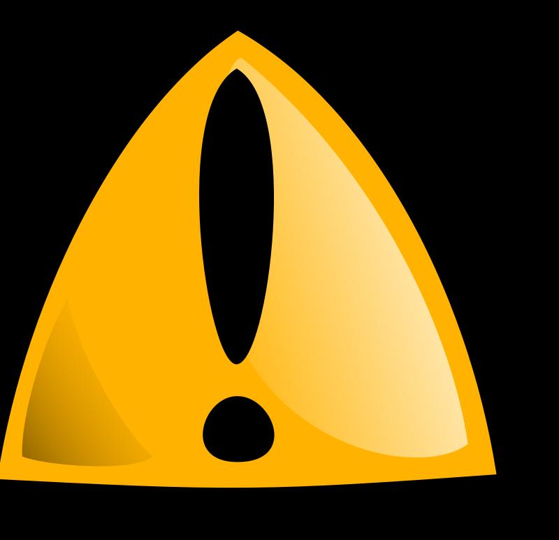 Free Warning sign orange rounded