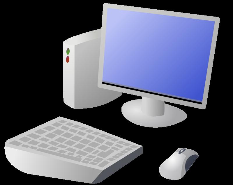 Free Cartoon Computer and Desktop