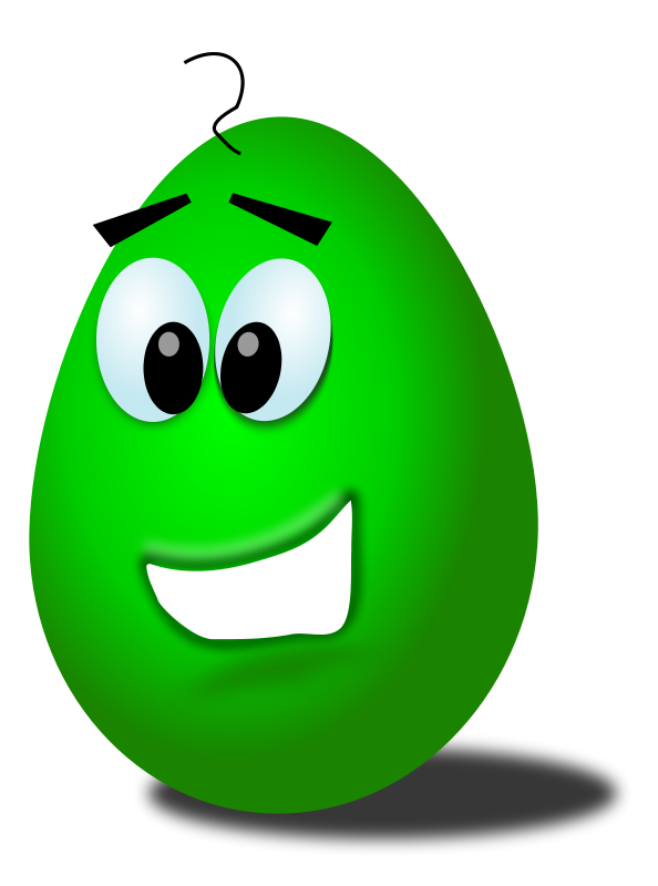 Free green comic egg