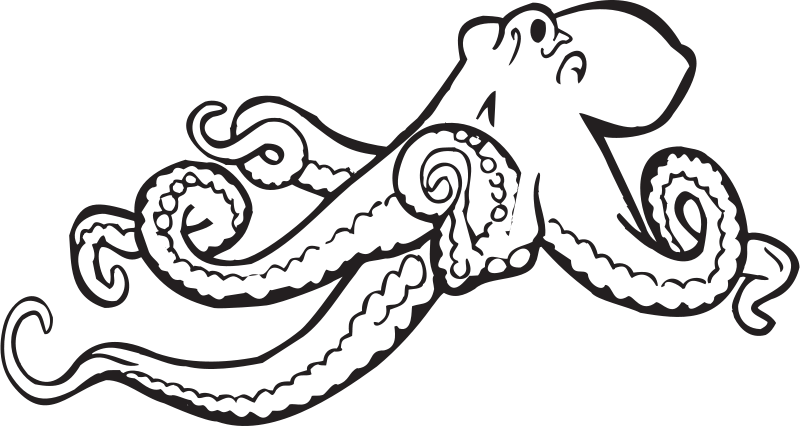 Free Coloring Book Octopus