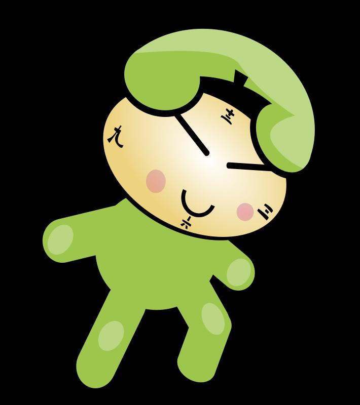Free cute phone clock character