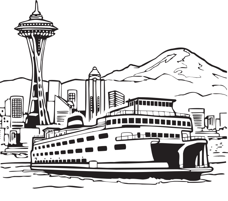 Free Space Needle and Ferry