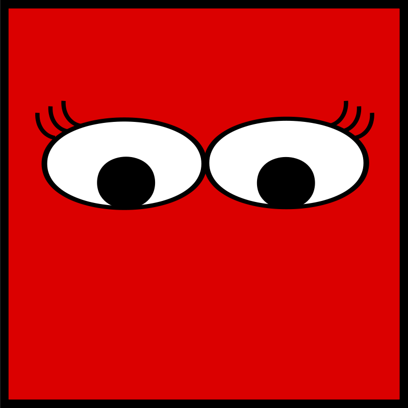 Free Clipart: Eyes with lashes | ted