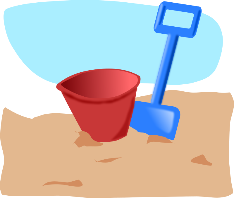 Free bucket and spade