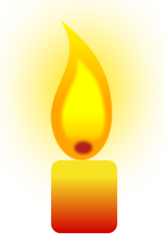 Free Clipart: Burning Candle | Objects