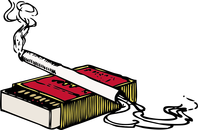Free Clipart: Cigarette and matchbox   johnny_automatic