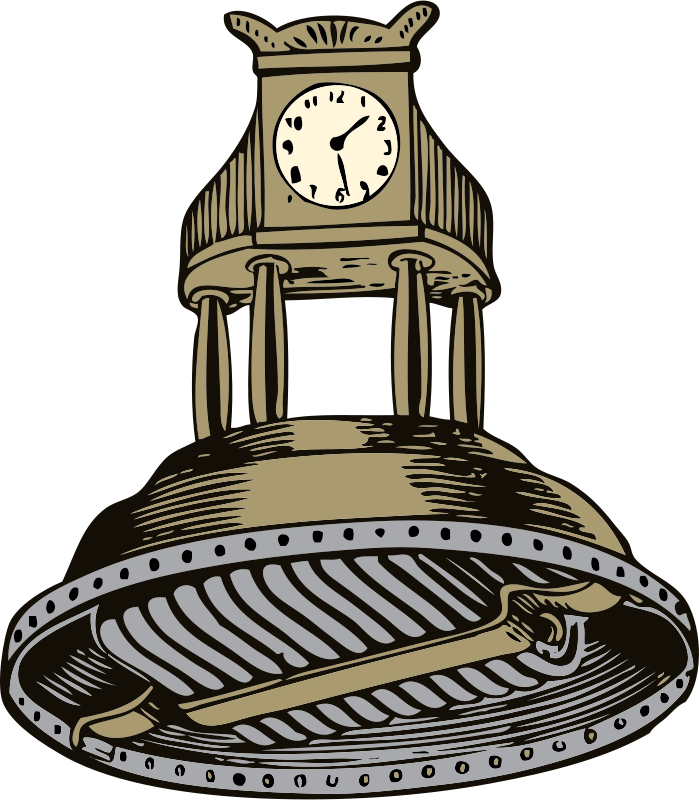 Free self winding clock