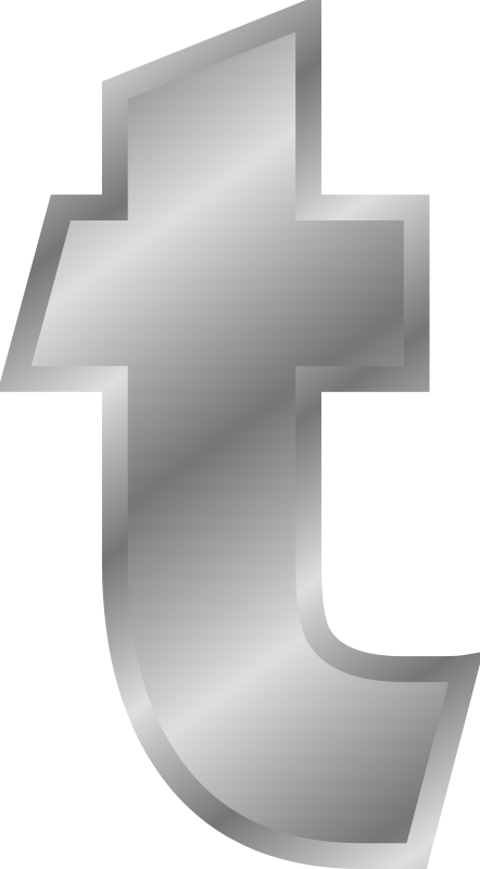 Free Effect Letters alphabet silver