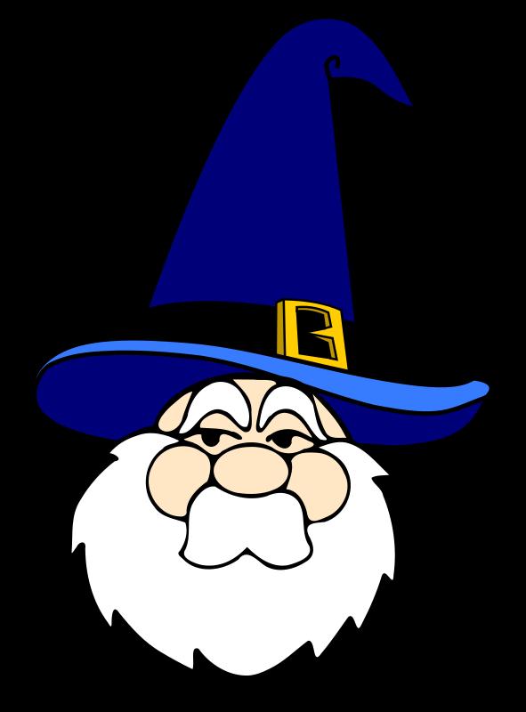 Free Wizard in blue hat