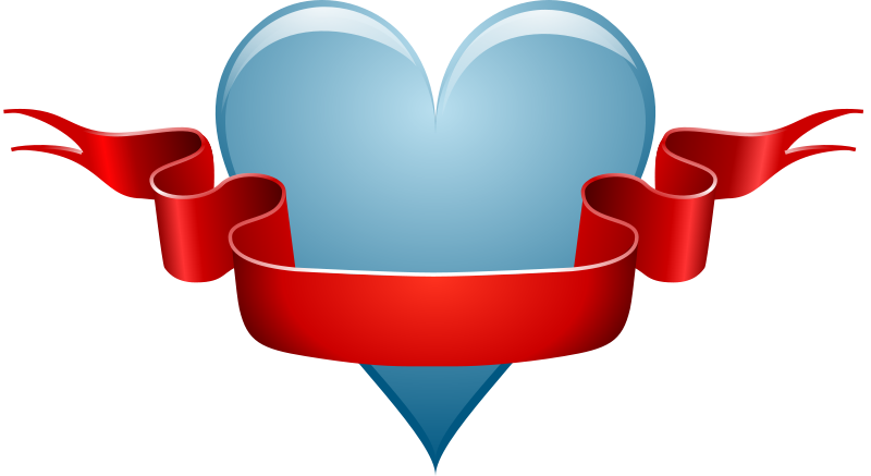 Free heart & ribbon