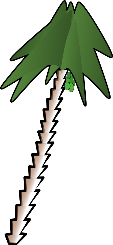 Free Clipart: Leaning palm tree | juanfilpo