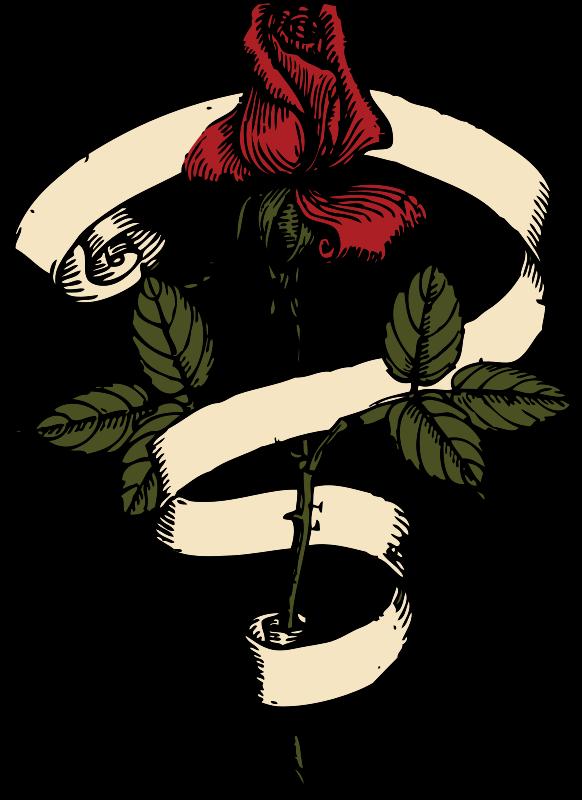 Free rose scroll