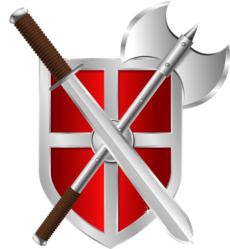 Free sword, battleaxe & shield