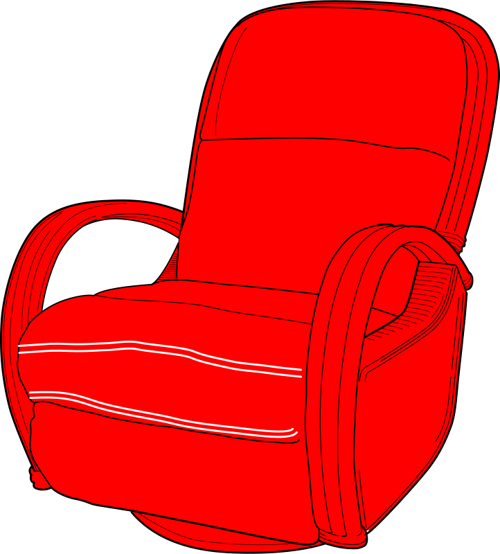 Groovy Free Clipart Lounge Chair Red Erlandh Home Interior And Landscaping Mentranervesignezvosmurscom